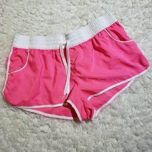 OP Athletic Shorts in Pink & White